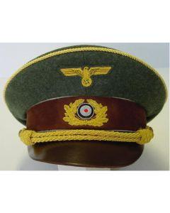 GREEN HITLER VISOR CAP
