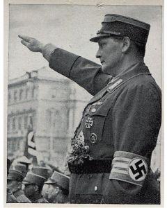 HERMANN GORING NIMMT AUF DER RINGLTRARE DEN VORBEIMARRFCH DER PARTEIFORMATIONEN AB GAUTAG WIEN 1932