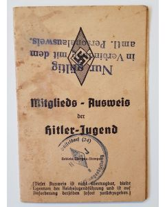 HITLER YOUTH MEMBER ID BOOKLET