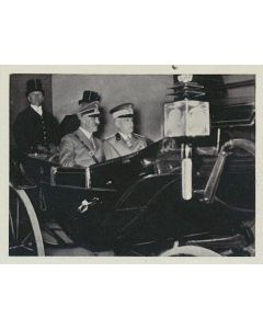 HONIG VIKTOR EMANUEL UND DER FUHRER ROM, MAI 1938 CIGARETTE CARD