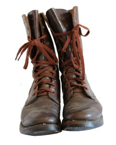 US ARMY PARATROOPER M1948 RUSSET LEATHER COMBAT BOOTS