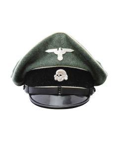 GERMAN WWII WAFFEN SS ENLISTED MAN INFANTRY VISOR CAP