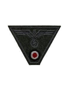 WWII GERMAN ARMY EM TRAPEZOID M43 CAP BADGE