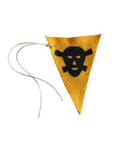 GERMAN WWII LAND MINE YELLOW MARKER WARNING FLAG (SALTZ SPURFAHNCHEN)