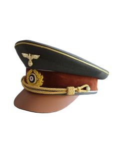 ADOLF HITLER VISOR CAP - FIELD GREY