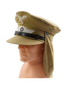 TROPICAL HERMANN MEYER TYPE EM/NCO SERVICE CAP (TROPENSCHIRMMUTZE)