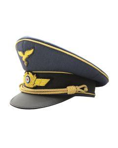 GERMAN LUFTWAFFE GENERAL VISOR CAP GOLD PIPED