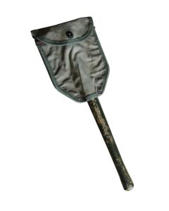 US WW2 ORIGINAL M43 FOLDING SHOVEL AND CANVAS COVER 1944 DATED