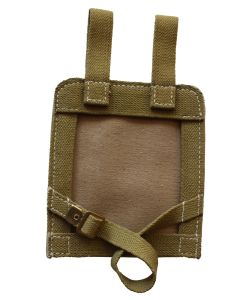 GERMAN WW2 SOLID BACK CANVAS WEB E-TOOL COVER OLIVE GREEN