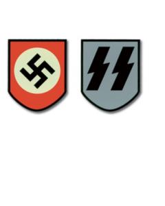GERMAN HELMET DECAL - WAFFEN SS HELMET DECAL