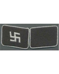 SS LATVIA FOREIGN VOLUNTEER UNIT OFFICER COLLAR TABS