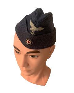 LUFTWAFFE AIR FORCE  WW2 (FLIEGERMUTZE) OVERSEAS CAP