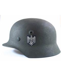 GERMAN WW2 M40 HEER SINGLE DECAL HELMET