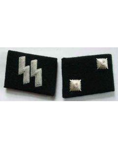 SS-OBERSCHARFUHRER  (Technical Sargeant) ENLISTED MAN COLLAR TABS