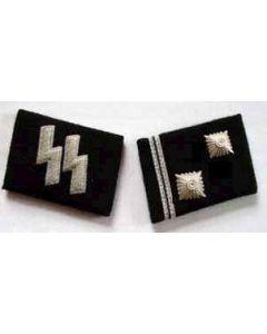 SS-HAUPTSCHARFUHRER  (Sargeant Major) ENLISTED MAN COLLAR TABS