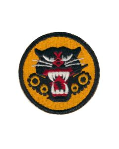 US WW2 TANK DESTROYER PATCH 4 WHEEL CUT EDGE ORIGINAL