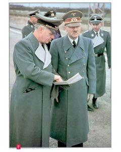 ADOLH HITLER, JOACHIM VON RIBBENTROP AND SS GENERALS COLOR POSTER