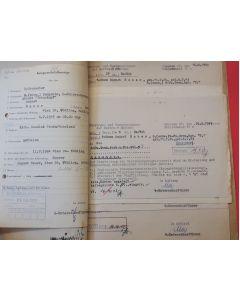 SS TOTENKOPF DEATH FILE FOR WAFFEN SS-MANN AUGUST HAUER