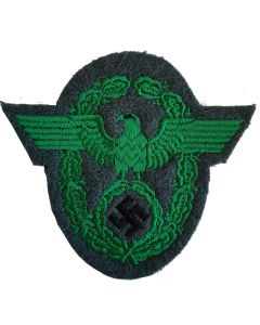 GERMAN WWII FELDGENDARMARIE POLICE SLEEVE EAGLE GREEN
