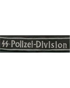 POLIZEI 4.SS DIVISION CUFF TITLE