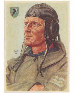 POTRAIT OF PILOT STUKAFLIEGER POSTCARD