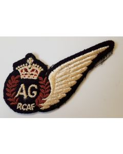 RCAF - WWII ROYAL CANADIAN AIR FORCE- AIR GUNNER'S (AG) PILOT WINGS