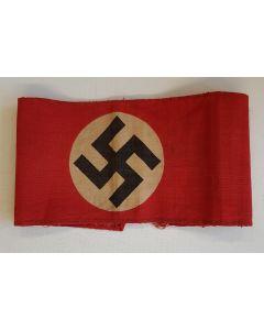 SA / NSDAP GERMAN WWII PRINTED ARMBAND WITH SWASTIKA