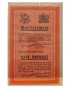 WWII AMERICAN SAFE CONDUCT PASS