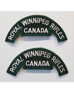 SHOULDER ARMY TITLE ROYAL WINNIPEG RIFLES CANADA