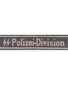 SS-POLIZEI-DIVISION BEVO TYPE CUFF TITLE