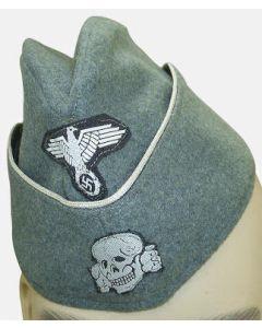 GERMAN SS OFFICER M40 SIDE CAP EARLY FELDGRAU
