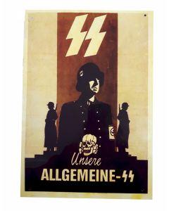 SS UNSERE ALLGEMEINE-SS METAL SIGN