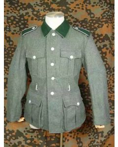 GERMAN M36 WOOL SERVICE TUNIC AND M37 FIELD GREEN WOOL GERMAN PANTS