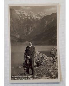 UNSER VOLKSKANZLER ADOLF HITLER POSTCARD - am konigssee den 21 mai 1933