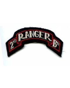 US 2ND RANGER BATTALION SCROLL PATCH ORIGINAL