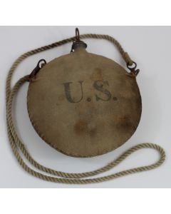 US CIVIL WAR OR SPANISH AMERICAN WAR CANTEEN AND COVER