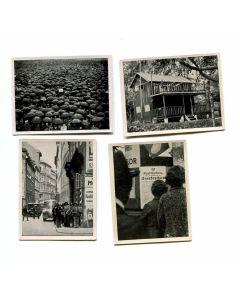 VERKIUNDUNG DES STANDRECHTS IN WIEN 1934 - GROUP OF 4