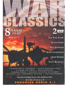 WAR CLASSICS 8 Feature Films Set of 2 DVD's
