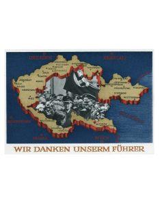 GERMAN Wir danken unserem Führer Postcard