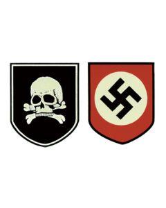 GERMAN SS DEATH'S HEAD HELMET DECALS