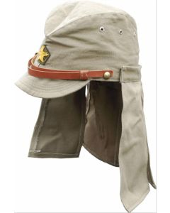 WWII JAPANESE IMPERIAL ARMY FORAGE CAP WITH NECK FLAPS