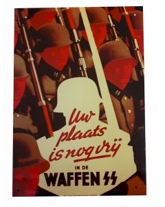 YOUR PLACE IS WAFFEN-SS METAL SIGN