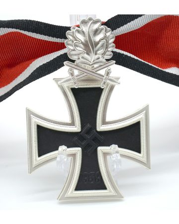 GERMAN WWII KNIGHTS CROSS TO THE IRON CROSS WITH OAK LEAVES AND SWORDS  - 3 PIECE CONSTRUCTION