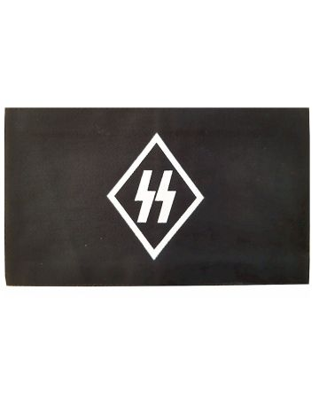 GERMAN NAZI SS RUNES BLACK COTTON ARMBAND