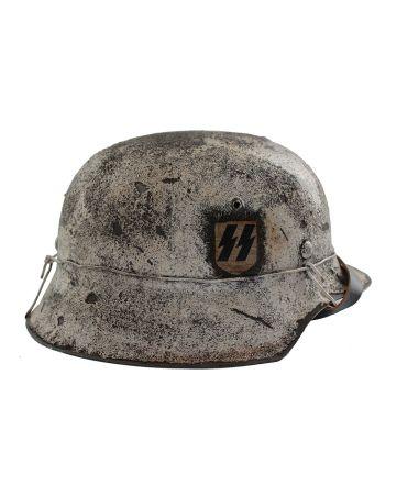 GERMAN WW2 M42 WINTER CAMOUFLAGE HELMET SS SINGLE DECAL