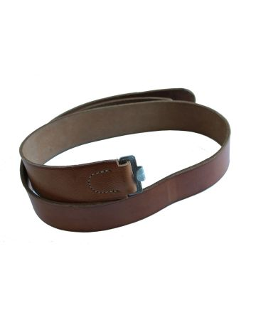 WW2 BROWN LEATHER EM EQUIPMENT BELT FOR LUFTWAFFE, POLICE AND WW1 IMPERIAL GERMAN SOLDIERS