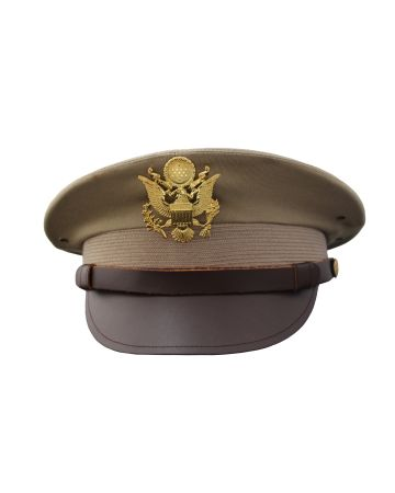 AMERICAN ARMY AIR FORCE OFFICER KHAKI 50 MISSION CAP - REPRODUCTION