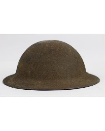 US M-1917 WWI STEEL BRODIE HELMET ,LINER & CHINSTRAP