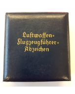 GERMAN LUFTWAFFE PILOT'S BADGE PRESENTATION CASE