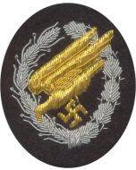 GERMAN LUFTWAFFE PARATROOPER CLOTH BADGE